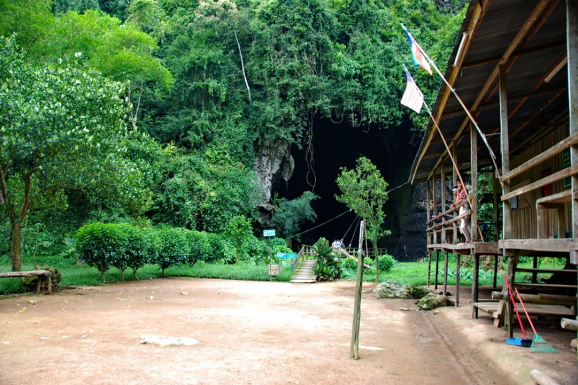 Gombatong Cave entrance