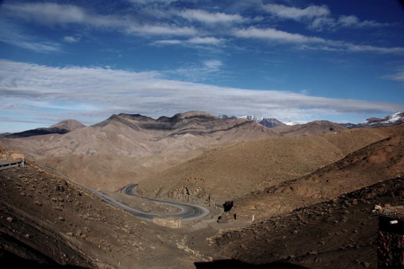 Morocco Atlas Mountains road