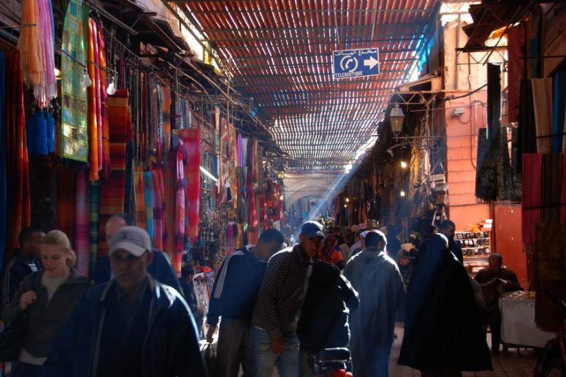 Morocco Marrakesh Bazaar