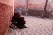 Morocco Marrakesh streets old man