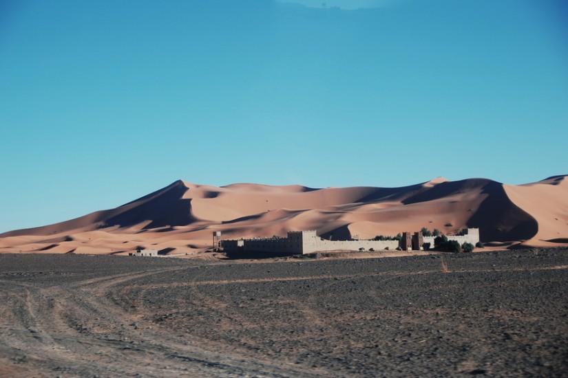 Morocco Merzouga Erg Chebbi Sahara Yasmina Hotel accommodation 1