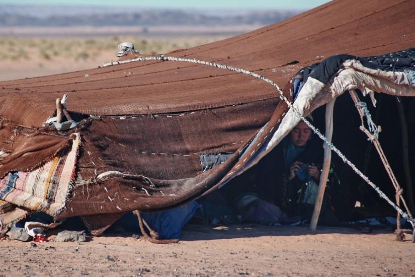Morocco Merzouga Erg Chebbi Sahara desert nomad tent 5