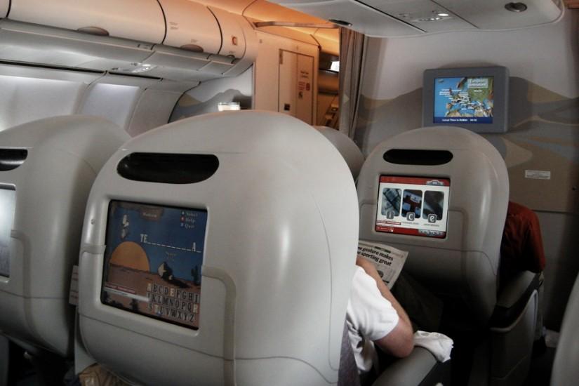 Emirates Business Class cabin 2
