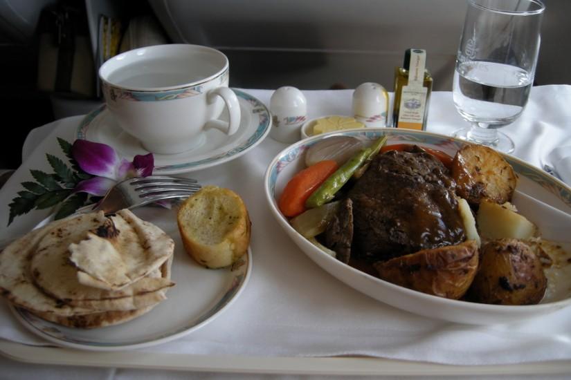 Emirates Business Class food 2