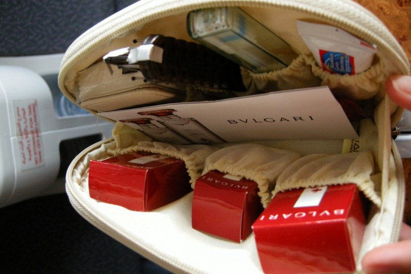 Emirates Business Class toiletry pack