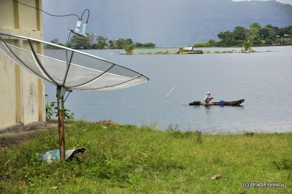 Lake Toba satellite dish