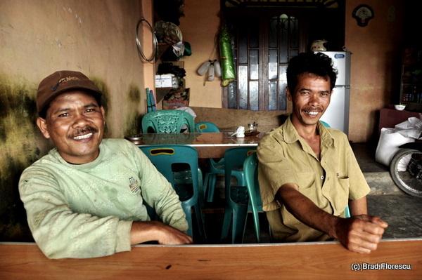 Locals Near Berastagi Karo Highlands