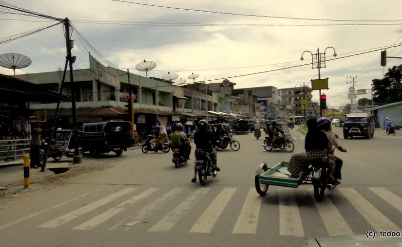 Sumatra city traffic