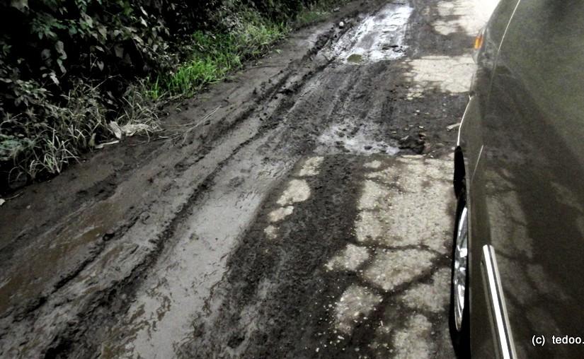 Sumatra road potholes