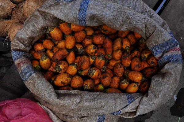 Fruit market Pangururan Samosir Lake Toba