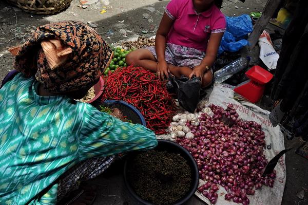 Market day Pangururan Samosir Lake Toba