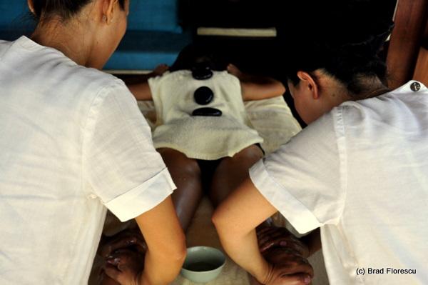Six Senses Samui 4 hands hot stone massage 2