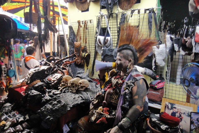 Bangkok Chatuchak Market punk vendor