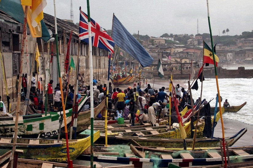 Fishing boats Cape Coast Ghana