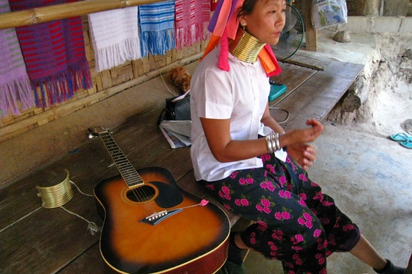 Mae Hong Son Thailand North Kakan Karen Long Neck Village 8