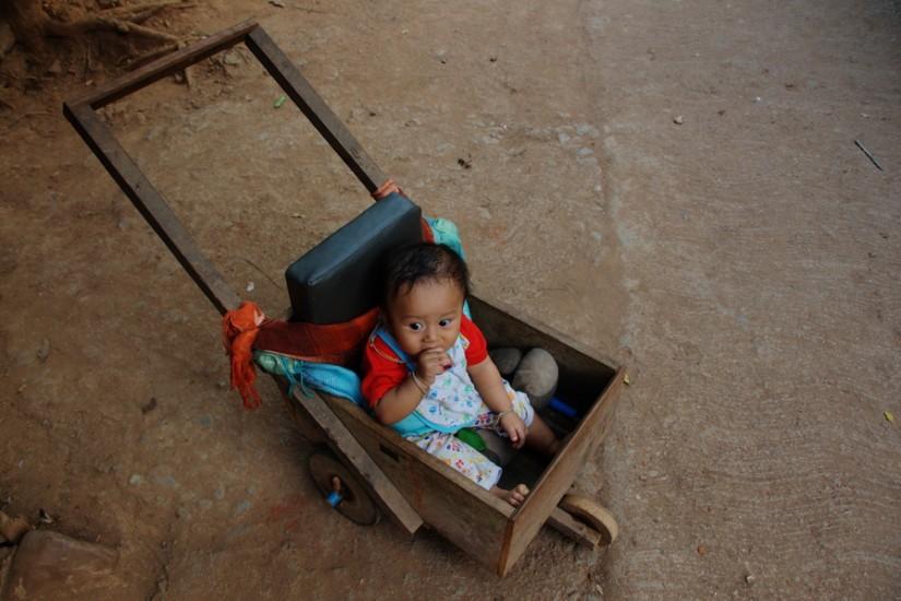 Thailand Mae Hong Son Huay Pu Keng Long Neck Village baby