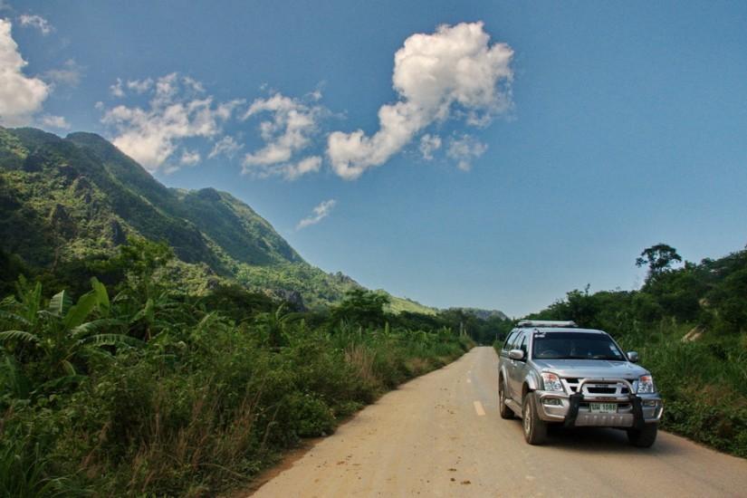 Road Chiang Rai Province Thailand