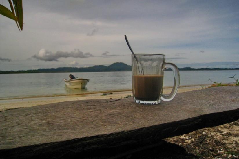 Sumatra barca Oceanul Indian cafea