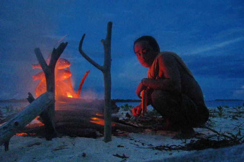 Sumatra insula Pulau Tailana fructe de mare plaja foc
