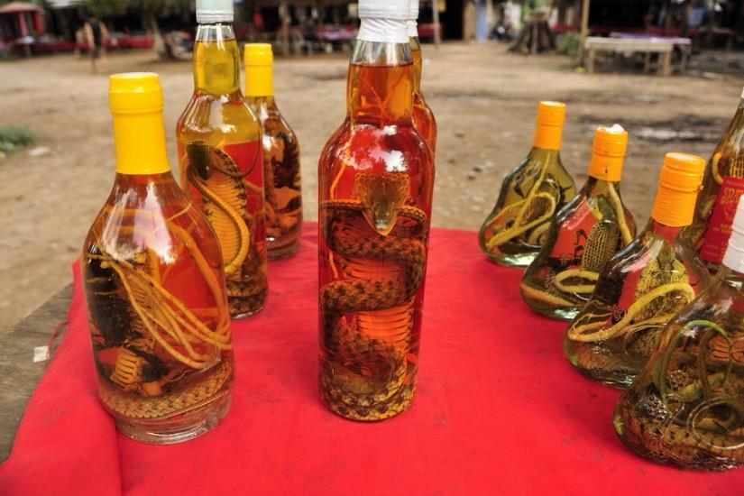 Golden Triangle Laos Snake Whisky Don Sao