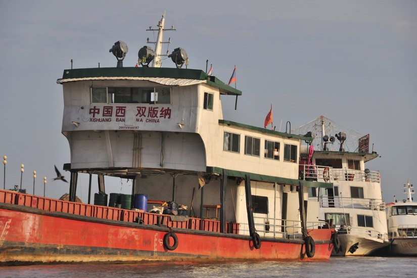 Thailand Golden Triangle Mekong Chinese Boat