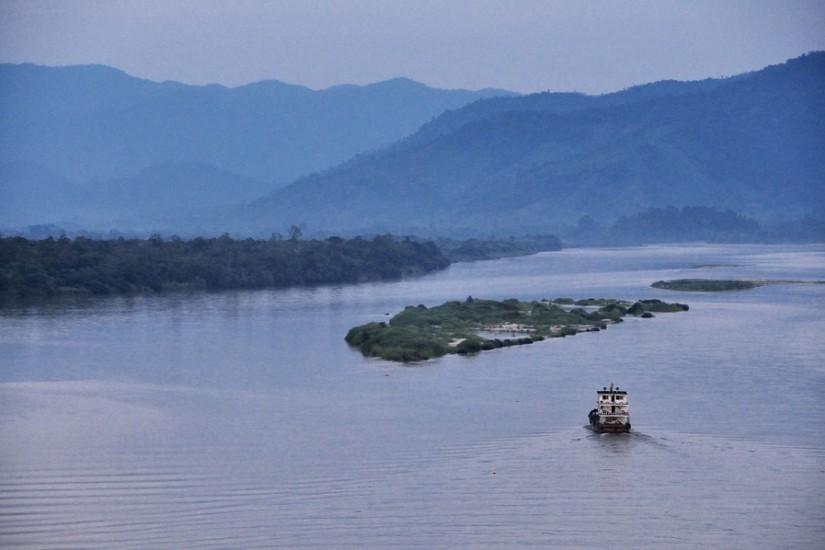 Thailand Golden Triangle Mekong Sunset Boat