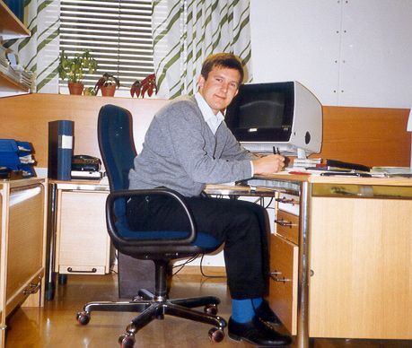 1984 Nov Me as purchasing manager in Stockholm