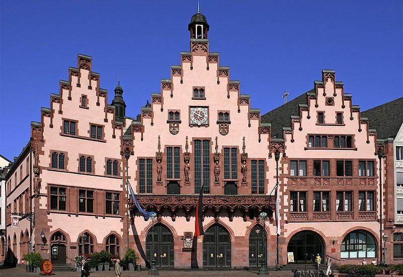 der Frankfurter Römer (Primăria din Frankfurt). Foto: wikimedia commons.