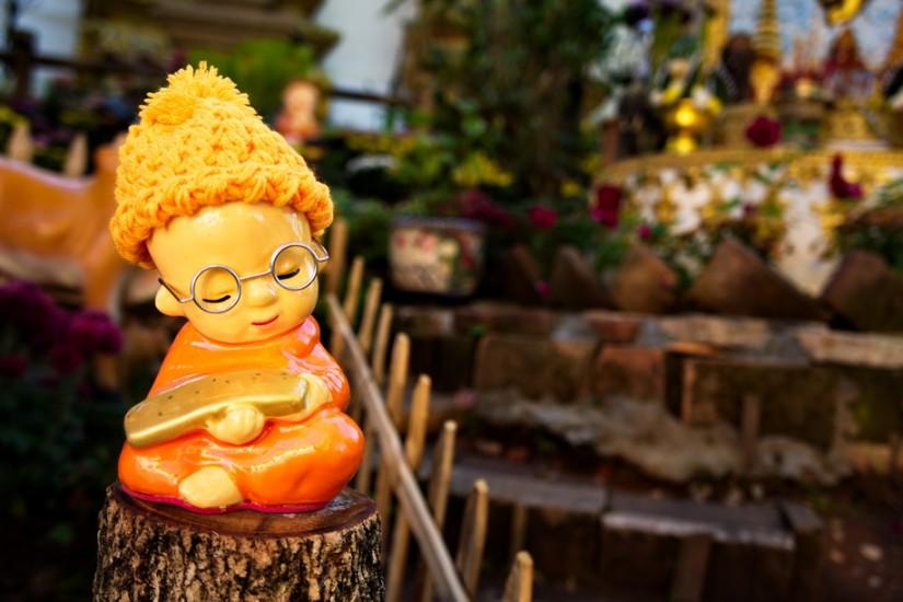 Doi Suthep Thailanda monk toy