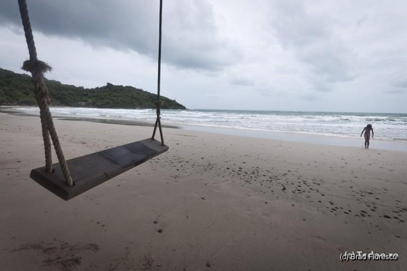 Ao Prao Resort. Plaja într-o zi înnorată.
