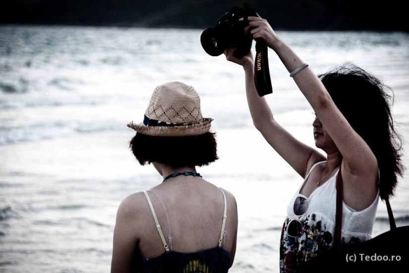 Plaja Sai Keaow. Actiuni de seara.
