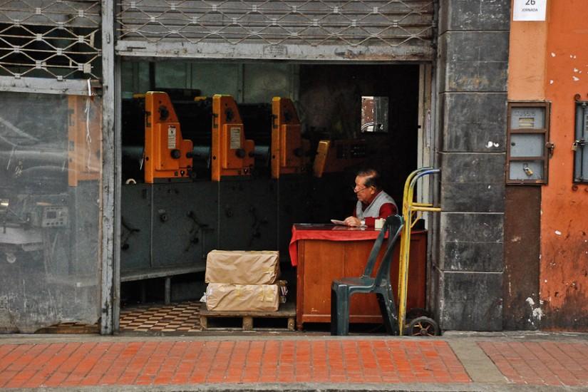 Lima, tipografie pe strada Callao