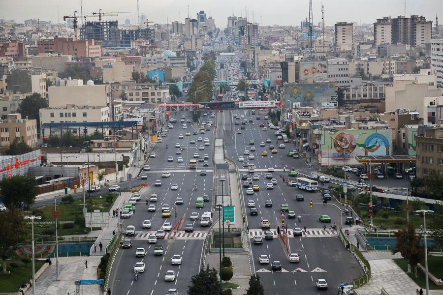 Tehran aerial view.