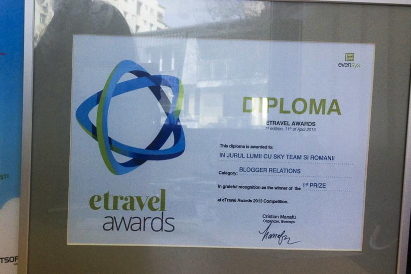 eTravel Awards diploma