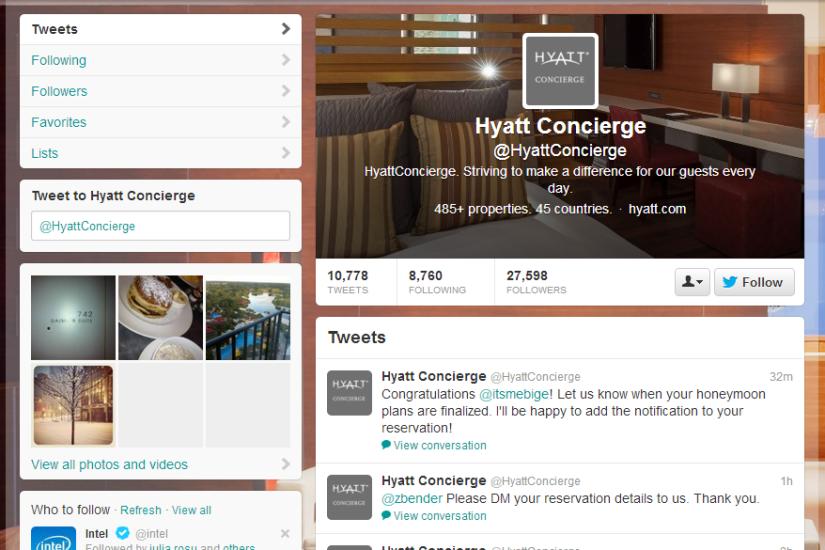 HyattConcierge  on Twitter
