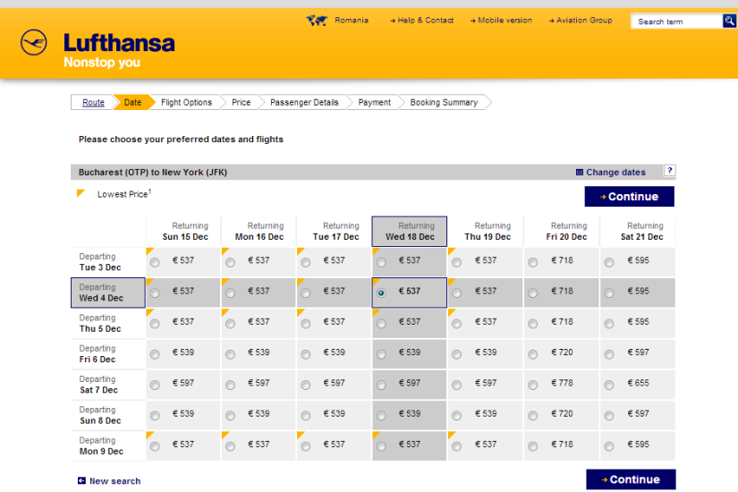 Lufthansa NY