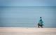 Plajă Khanom Thailanda pescar