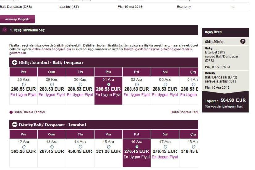 Qatar Airways Istanbul Bali
