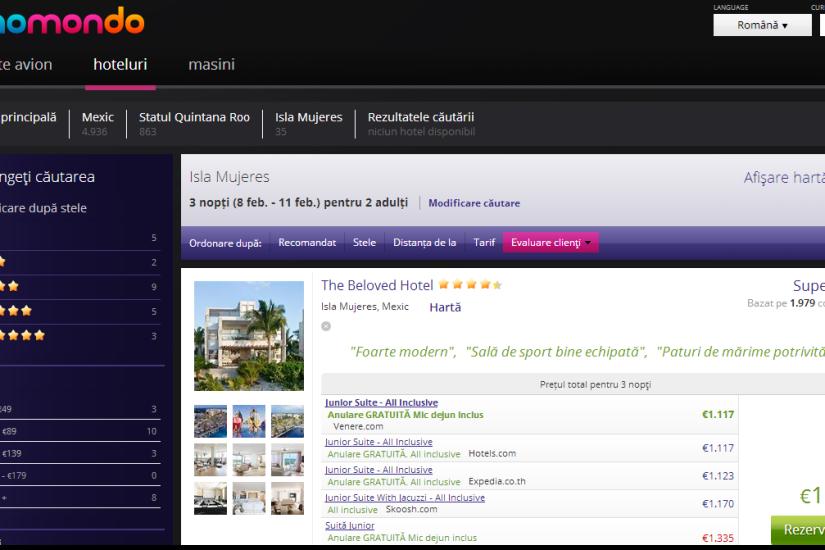 Momondo evaluare hotel