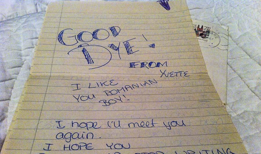 Scrisoare Yvette Good Bye