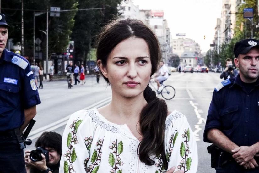 Piața Universității, 1 septembrie, la prima zi de proteste împotriva exploatării de la Roșia Montană.