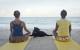 Mediația de la finalul orei de yoga.