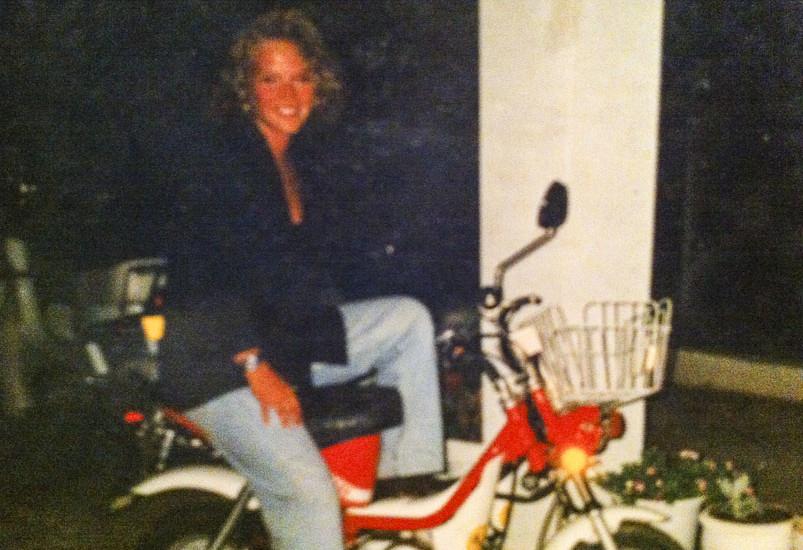 Yvette în vacanța din Cipru, 1987.