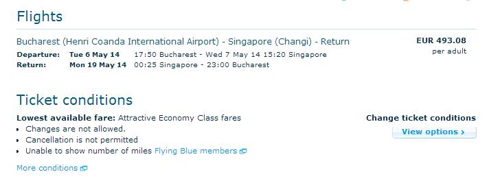 KLM Singapore 493