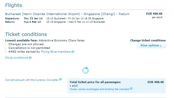 KLM Singapore 498