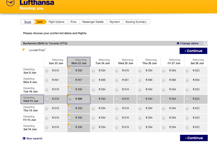 Lufthansa Toronto