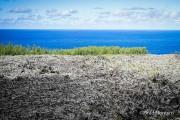 Coasta de sud-est. Pe aici curge Piton de la Fournaise în Oceanul Indian.