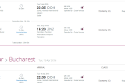 Qatar Airways Bucuresti Zanzibar 641 EUR