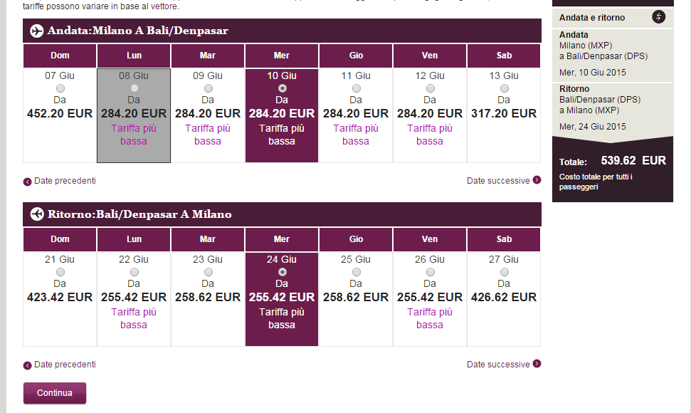 Qatar Airways Bali